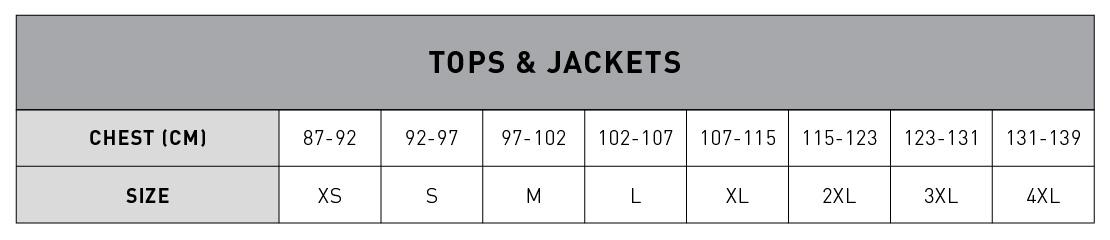 Guía de tallas de camisetas y chaquetas New Era