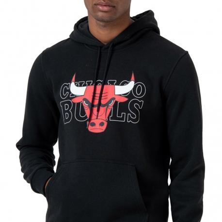SUDADERA NBA GRAPHIC OVERLAP CHICAGO BULLS