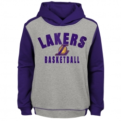 SUDADERA RETRO BLOCK PULLOVER HOODIE -LOS ANGELES LAKERS (NIÑO)