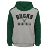 SUDADERA RETRO BLOCK PULLOVER HOODIE -MILWAUKEE BUCKS (NIÑO)