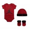 JORDAN 3PK JUMPMAN HAT/BODYSUIT/BOOTIE SET (BEBÉS)