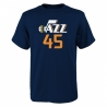 CAMISETA FLAT NAME & NUMBER S/S COTTON TEE- DONOVAN MITCHELL (NIÑO)