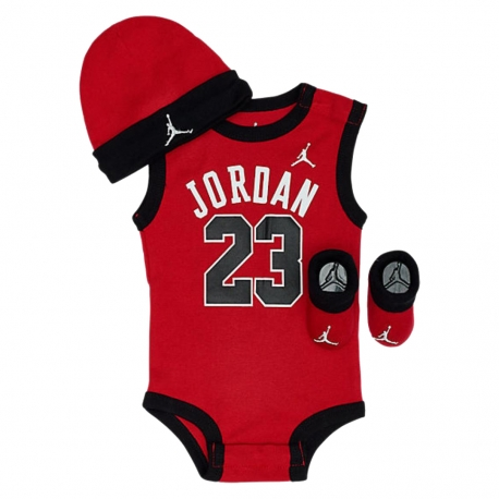 JORDAN 23 JERSY 3PK JUMPMAN HAT/BODYSUIT/BOOTIE SET (BEBÉS)