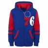 SUDADERA STRAIGHT TO THE LEAGUE FZ HOODIE-PHILADELPHIA 76ERS (NIÑO)