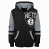SUDADERA STRAIGHT TO THE LEAGUE FZ HOODIE-BROOKLYN NETS (NIÑO)