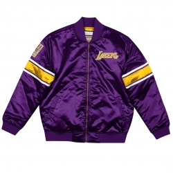 CHAQUETA HEAVYWEIGHT SATIN JACKET LOS ANGELES LAKERS
