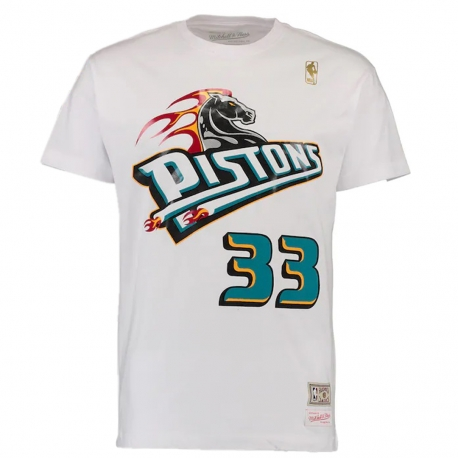 CAMISETA NAME & NUMBER GRANT HILL - DETROIT PISTONS