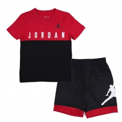 CONJUNTO JORDAN JDB BIG BLOCK TEE & SHORT SET (NIÑO)