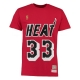 CAMISETA NAME & NUMBER ALONZO MOURNING MIAMI HEAT