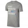 "CAMISETA NIKE DRY ""MAKE BUCKETS NOT FRIENDS"""