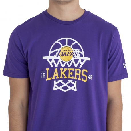 CAMISETA NBA LEAGUE NET LOGO TEE LOS ANGELES LAKERS