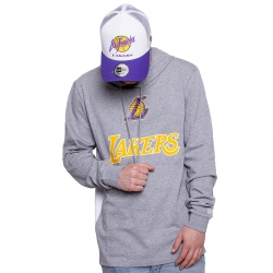 SUDADERA CON CAPUCHA NBA CONTRAST PANEL LOS ANGELES LAKERS
